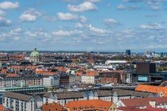 Πανοραμική άποψη της Κοπεγχάγης Στοκ Εικόνες