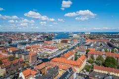 Πανοραμική άποψη της Κοπεγχάγης Στοκ Φωτογραφίες