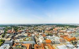 Πανοραμική άποψη της Λειψίας Στοκ Εικόνα