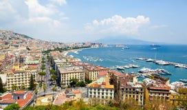 Πανοραμική άποψη της Νάπολης από Posillipo στοκ φωτογραφίες