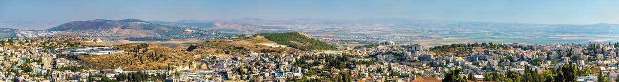 Πανοραμική άποψη της Ναζαρέτ - του Ισραήλ Στοκ Εικόνες