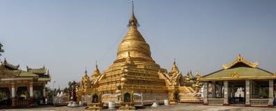 Πανοραμική άποψη της παγόδας Kuthodaw, Mandalay, περιοχή του Mandalay, του Μιανμάρ, Στοκ φωτογραφία με δικαίωμα ελεύθερης χρήσης