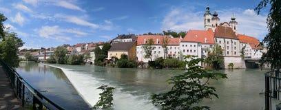 πανοραμική άποψη της παλαιάς πόλης Steyr στοκ φωτογραφία