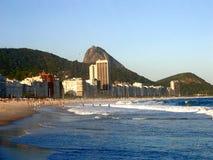 Πανοραμική άποψη της παραλίας Copacabana - Ρίο ντε Τζανέιρο στοκ φωτογραφία με δικαίωμα ελεύθερης χρήσης