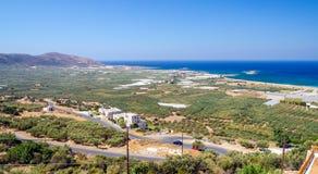 Πανοραμική άποψη της παραλίας Falasarna στην Κρήτη, Ελλάδα Στοκ Φωτογραφίες