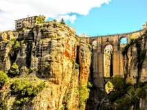 Πανοραμική άποψη της παλαιάς πόλης της Ronda Ισπανία στοκ εικόνα