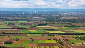 Πανοραμική άποψη της πεδιάδας Άνω Ρήνου στοκ εικόνα