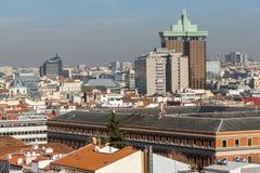 Πανοραμική άποψη της πόλης της Μαδρίτης από Circulo de Bellas Artes, Ισπανία Στοκ Φωτογραφία