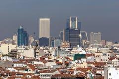 Πανοραμική άποψη της πόλης της Μαδρίτης από Circulo de Bellas Artes, Ισπανία Στοκ φωτογραφίες με δικαίωμα ελεύθερης χρήσης