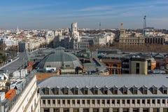 Πανοραμική άποψη της πόλης της Μαδρίτης από Circulo de Bellas Artes, Ισπανία Στοκ εικόνα με δικαίωμα ελεύθερης χρήσης