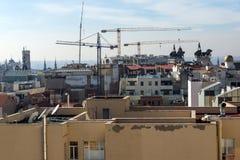 Πανοραμική άποψη της πόλης της Μαδρίτης από Circulo de Bellas Artes, Ισπανία Στοκ Φωτογραφίες