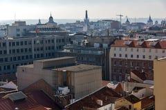 Πανοραμική άποψη της πόλης της Μαδρίτης από Circulo de Bellas Artes, Ισπανία Στοκ Εικόνα