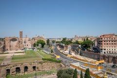 Πανοραμική άποψη της πόλης Ρώμη στοκ εικόνες με δικαίωμα ελεύθερης χρήσης