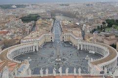 Πανοραμική άποψη της πόλης του Βατικανού στοκ εικόνα με δικαίωμα ελεύθερης χρήσης