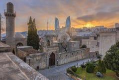 Πανοραμική άποψη της πόλης του Μπακού, πρωτεύουσα του Αζερμπαϊτζάν Στοκ Φωτογραφία