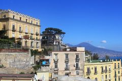 Πανοραμική άποψη της πόλης Napoli, Ιταλία Στοκ φωτογραφία με δικαίωμα ελεύθερης χρήσης