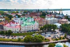 Πανοραμική άποψη της πόλης Vyborg, περιοχή του Λένινγκραντ, της Ρωσίας στοκ φωτογραφίες με δικαίωμα ελεύθερης χρήσης