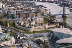 Πανοραμική άποψη της πόλης του Λονδίνου Στοκ Φωτογραφίες