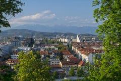 Πανοραμική άποψη της πόλης του Λουμπλιάνα, Σλοβενία Στοκ Εικόνες