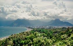 Πανοραμική άποψη της πόλης Antalya Στοκ εικόνα με δικαίωμα ελεύθερης χρήσης