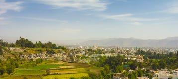 Πανοραμική άποψη της πόλης Arequipa, Περού Στοκ Φωτογραφία