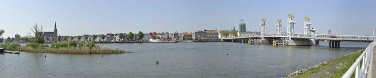 Πανοραμική άποψη της πόλης Kampen, οι Κάτω Χώρες Στοκ Φωτογραφία