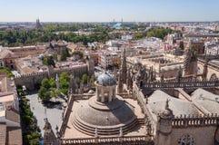 Πανοραμική άποψη της Σεβίλης στην Ισπανία Στοκ φωτογραφία με δικαίωμα ελεύθερης χρήσης