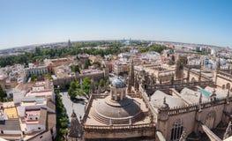 Πανοραμική άποψη της Σεβίλης στην Ισπανία Στοκ εικόνες με δικαίωμα ελεύθερης χρήσης