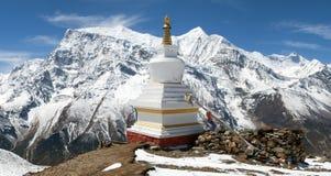 Πανοραμική άποψη της σειράς Annapurna Στοκ Φωτογραφίες