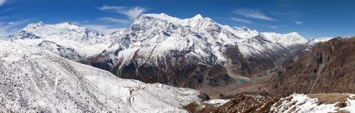Πανοραμική άποψη της σειράς Annapurna Στοκ εικόνα με δικαίωμα ελεύθερης χρήσης