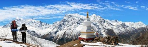 Πανοραμική άποψη της σειράς Annapurna Στοκ εικόνες με δικαίωμα ελεύθερης χρήσης