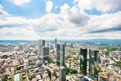 Πανοραμική άποψη της Φρανκφούρτης Αμ Μάιν, Γερμανία στοκ εικόνες