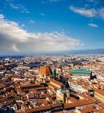 Πανοραμική άποψη της Φλωρεντίας, Ιταλία Στοκ Φωτογραφία