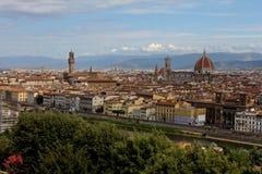Πανοραμική άποψη τοπίων πόλεων της Φλωρεντίας Ιταλία Στοκ φωτογραφίες με δικαίωμα ελεύθερης χρήσης