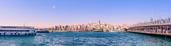 Πανοραμική άποψη τοπίων του πύργου Galata στοκ φωτογραφίες