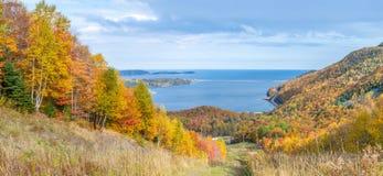 Πανοραμική άποψη του ίχνους Cabot το φθινόπωρο στοκ εικόνα με δικαίωμα ελεύθερης χρήσης