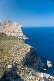 Πανοραμική άποψη του ακρωτηρίου Formentor Μαγιόρκα στοκ εικόνες
