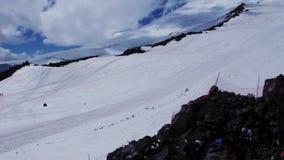 Πανοραμική άποψη του βουνού Elbrus απόθεμα βίντεο