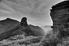 Πανοραμική άποψη του βουνού Fanjing στοκ εικόνα με δικαίωμα ελεύθερης χρήσης