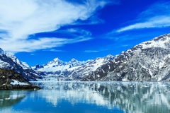 Πανοραμική άποψη του εθνικού πάρκου κόλπων παγετώνων albedo στοκ φωτογραφίες