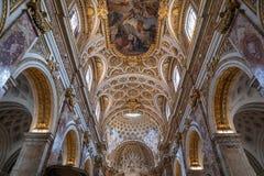 Πανοραμική άποψη του εσωτερικού της εκκλησίας του Σαιντ Λούις των Γάλλων στοκ εικόνες με δικαίωμα ελεύθερης χρήσης