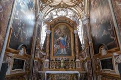 Πανοραμική άποψη του εσωτερικού της εκκλησίας του Σαιντ Λούις των Γάλλων στοκ εικόνα με δικαίωμα ελεύθερης χρήσης