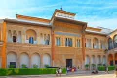 Πανοραμική άποψη του εσωτερικού patio Patio de Λα Monteria του βασιλικού στοκ εικόνες