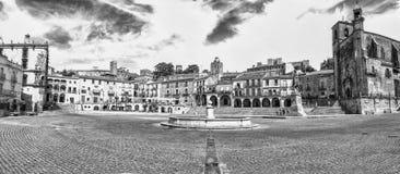 Πανοραμική άποψη του δημάρχου Plaza Trujillo, Ισπανία Στοκ εικόνες με δικαίωμα ελεύθερης χρήσης