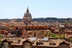 Πανοραμική άποψη του ιστορικού κέντρου της Ρώμης, Ιταλία Στοκ Εικόνες