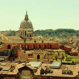 Πανοραμική άποψη του ιστορικού κέντρου της Ρώμης, Ιταλία Στοκ φωτογραφίες με δικαίωμα ελεύθερης χρήσης
