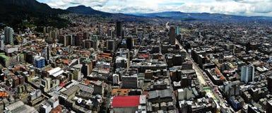 Πανοραμική άποψη του κέντρου της Μπογκοτά, Κολομβία Στοκ Εικόνες