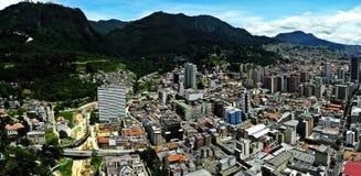 Πανοραμική άποψη του κέντρου της Μπογκοτά, Κολομβία Στοκ φωτογραφία με δικαίωμα ελεύθερης χρήσης