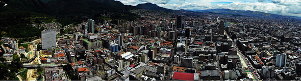 Πανοραμική άποψη του κέντρου της Μπογκοτά, Κολομβία Στοκ Εικόνα