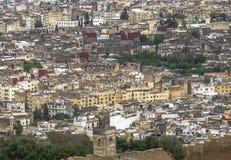 Πανοραμική άποψη του κέντρου του Fez Fes, Μαρόκο Στοκ εικόνες με δικαίωμα ελεύθερης χρήσης